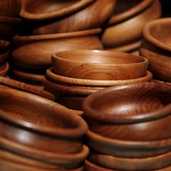 Handmade wooden sugar bowls