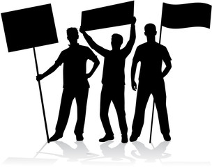 manifestation - a group of people protesting