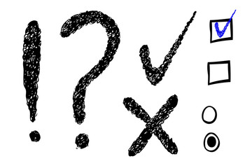 Question Mark, Exclamation & Checklist