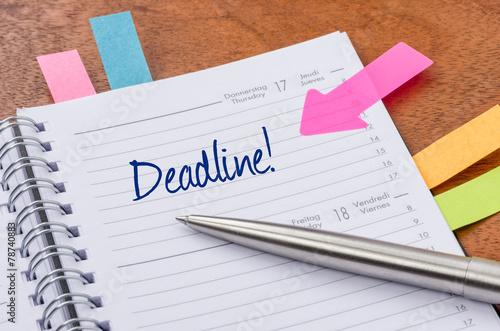 Terminkalender mit Hinweissticker - Deadline - 78740883