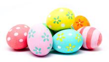 """Постер, картина, фотообои """"Colorful handmade easter eggs isolated"""""""