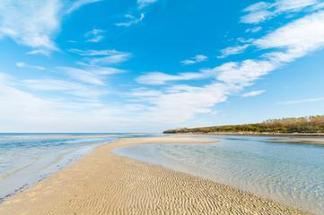 Küstenlandschaft, Sandbank, Insel