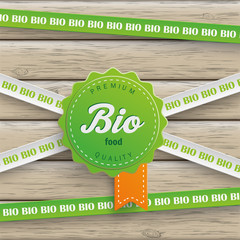 Bio Sticker Lines Bio Food Wood