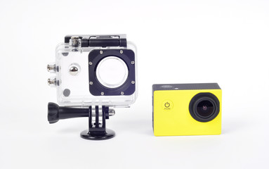 small action camera and waterproof box