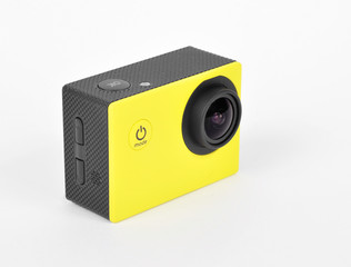 small action camera yellow