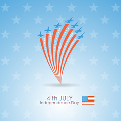 Vector flag of the United States. July 4 - Independence Day. Sil