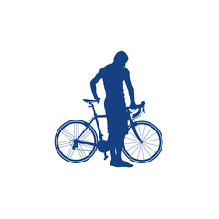 silhouette of a cyclist