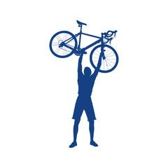 cyclist silhouette