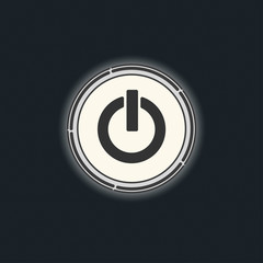 Power on off button vector