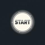 Start button vector poster