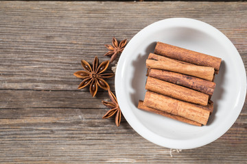 Cinnamon sticks with anise stars