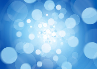 Blue abstract light background defocused