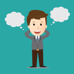 Vector of Businessman dreaming bubble.concept
