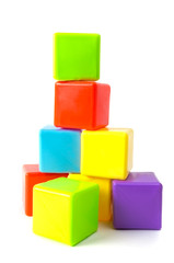 Tower of stacked cubes