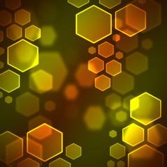 hexagon bokeh wallpaper