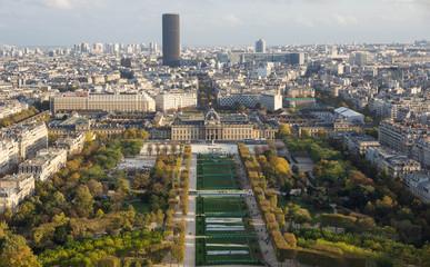 View of autumn Paris