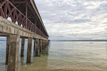 pier in indian ocean