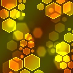 hexagon bokeh wallpaper