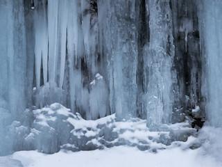 横谷峡の氷瀑