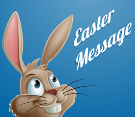 Cartoon Easter Bunny Message