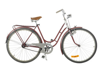 Red Old fashioned bicycle