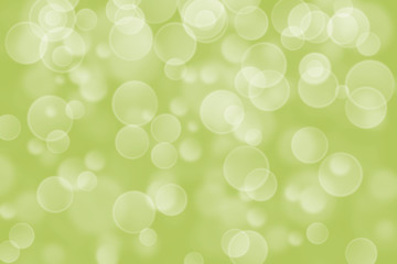 green circle shape boke background