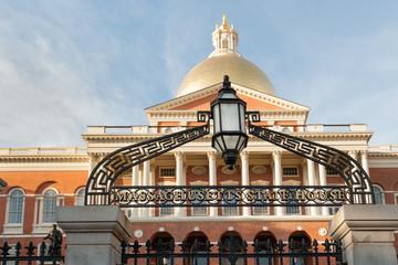 Massachusetts State house on Beacon Hill, downtown Boston