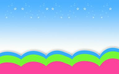 fond bleu ciel étoiles