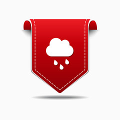 Rain Cloud Red Vector Icon Design