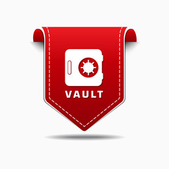 Vault Red Vector Icon Design