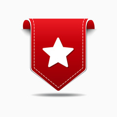 Star Red Vector Icon Design