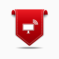 Pc Network Red Vector Icon Design