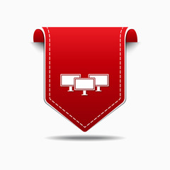 Networrk Icon Red Vector Icon Design