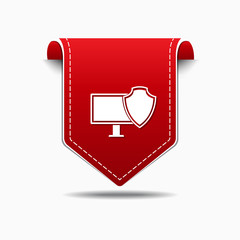 Protected Sign Red Vector Icon Design