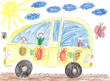 Children drawing bus trip - 78746400
