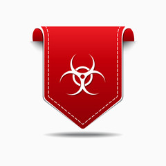 Biohazrd Sign Red Vector Icon Design