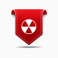 Radioactive Sign Golden Vector Icon Design