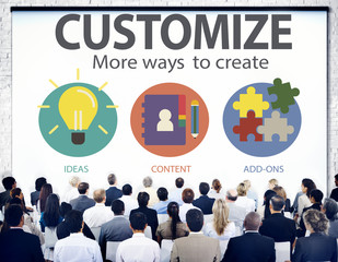 Customize Identity Individuality Innovation Personalize Concept