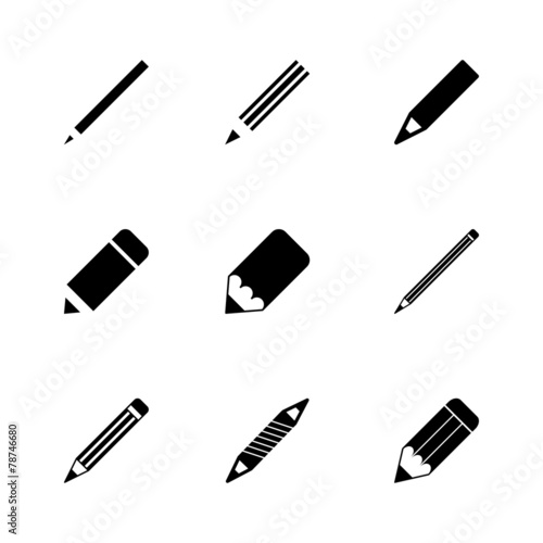 Vector pencil icon set - 78746680