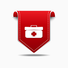 Health Kit Red Vector Icon Design