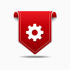 Gear Red Vector Icon Design