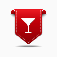 Glass Red Vector Icon Design