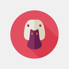 Duck flat icon with long shadow