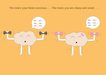 brain cartoons exercise