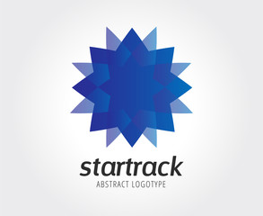 Abstract star vector logo template for branding and design