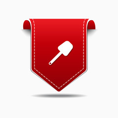Shoval Red Vector Icon Design
