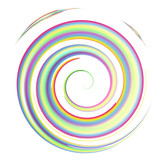 Naklejka colorful watercolor spiral