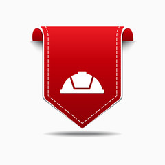 Helmet Red Vector Icon Design