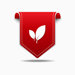 Leaf Icon Red Vector Icon Design