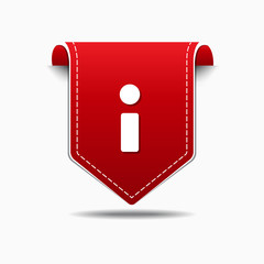 Info Red Vector Icon Design